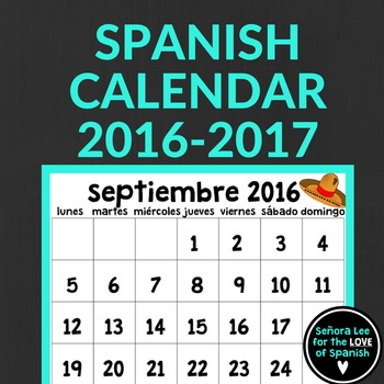 2016 - 2017 Spanish Calendar