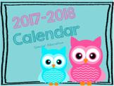 2017-2018 Special Education Calendar