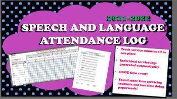 2017 2018 Speech Therapy Service Attendance Log By