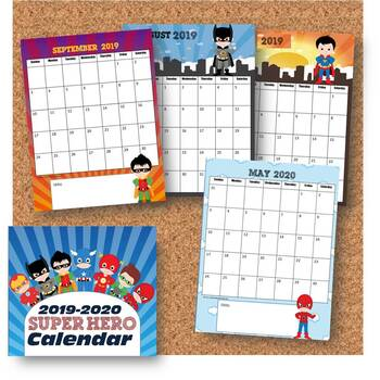 2016-2017 Super Hero Calendar