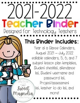 2017-2018 Computer Lab Teacher Binder