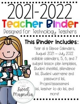2018-2019 Computer Lab Teacher Binder