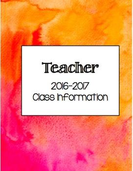 2016-2017 Teacher Binder