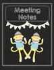 2016-2017 Teacher Binder Organizer & Planner: Sock Monkey Chalkboard Theme