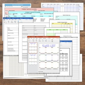 2016-2017 Teacher Planner and Binder Pages with Annual Updates for Free!