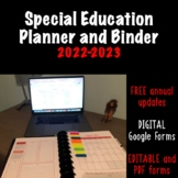 2018-2019 Special Education Teacher's Planner & Binder with FREE UPDATES