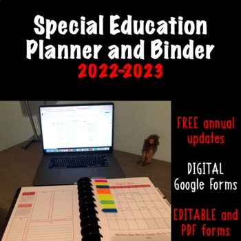 2016-2017 Teacher Planner and Binder Pages with Annual Upd