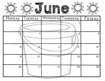 2016-2017 Teacher Calendar: Back to School
