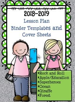 2016-2017 Teacher Lesson Plan Binder Themes