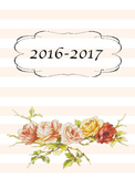 2016-2017 Teacher Planner Vintage Rose