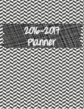 2016-2017 Teacher Planner (Black and White)