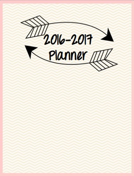 2016-2017 Teacher Planner (Gold and Pink)