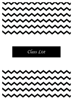 2016-2017 Teacher Year Planner Black and White Chevron