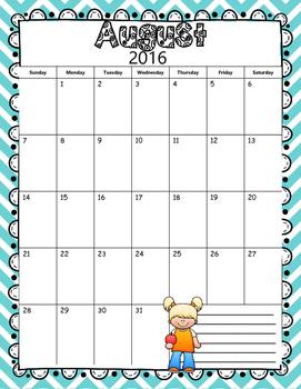 2016-2017 Teal Chevron Teacher Binder/Organizer