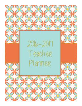 2016-2017 Teal Floral Teacher Planner