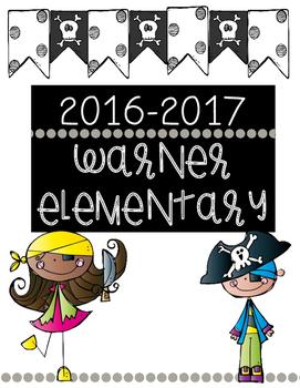 2016-2017 Warner Elementary Calendar Cover