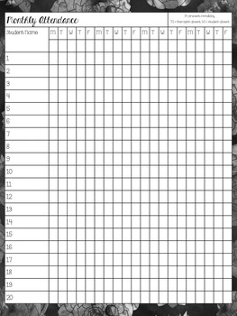 2016-2017 Watercolor SLP Planner: Monthly and Weekly (Black Ink Only)