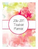 2016-2017 Watercolor Teacher Planner