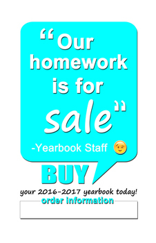 2016-2017 Yearbook Sales Posters