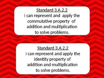 Third Grade Oklahoma Math and Language Arts Standards Chevron design