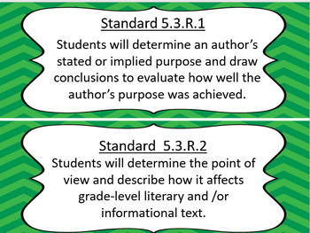 5th Grade Oklahoma Language Arts Standards   Chevron design Updated