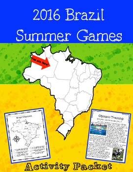 2016 Brazil Summer Olympic Games Activity Packet
