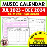 Music Calendar 2018 - 2019