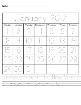 2016 Traceable Monthly Worksheet (12 Months)