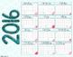 2016 Calendar Pages