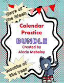 2017 - 2018 Calendar Practice Bundle (Days of the week and
