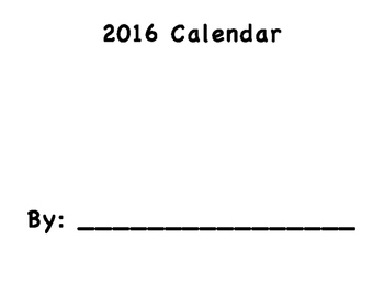 2016 Calendar Project Packet