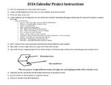 2016 Calendar Project Packet