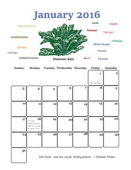 2016 Calendar - What is in Season?