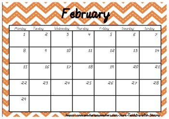 2016 Chevron Calendar