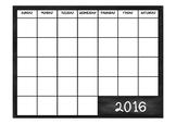 2016 Classroom Calendar
