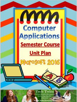 2016 Computer Applications Daily Lesson Plans with Materia