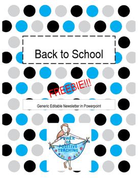 2017 Editable Newsletter - FREEBIE