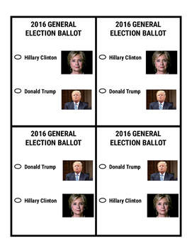 2016 Election Ballot with pictures and without pictures