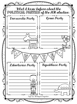 2016 Election Booklet | Candidates & Political Parties | Big Kids Fun