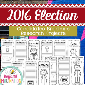 2016 Election Brochures | Candidate Research Project | Big
