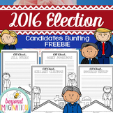 2016 Election Free Bunting | Candidates Writing Prompt | P