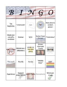 Presidential Debate Bingo! - 2016 Election