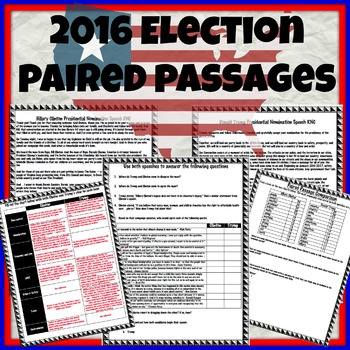 2016 Election: Speech vs. Speech Paired Passages