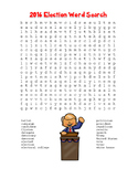 "2016 Election Word Search ""President Trump"" FUN! (Color and Black Line)"