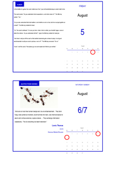 2016 Fall Semester Science Teacher's Page-a-Day Calendar