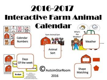 2016 Farm Animal Interactive calendar