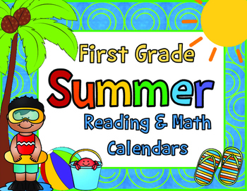 2016 First Grade Summer Learning Packet with June and July Calendars