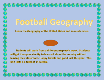 2016 Football Geography Weekly - 14 lessons each with a different map