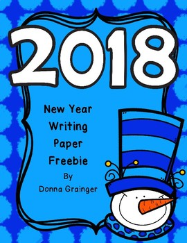 New Year's Free Writing Paper