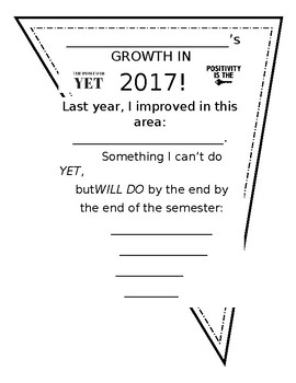 2017 Goal Setting - A Growth Mindset Perspective for All Ages (Word Doc)